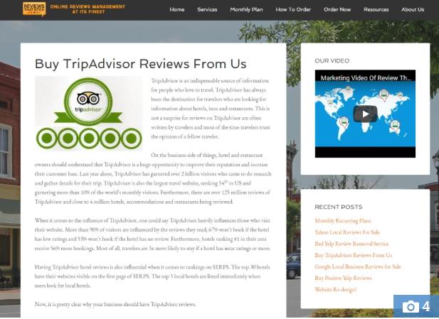 trip advisor review